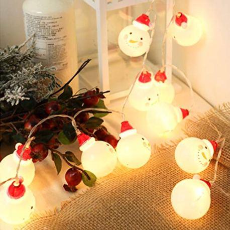 Lanlan-LED-lumire-Chapelet–Batterie-Bonhomme-de-Neige-pour-dcoration-nol-pour-intrieur-extrieur-Jardin-Salon-Chambre–Coucher-15-m-10LED2-M-20LED3-M-20LED