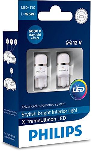 Philips 12799I60X2 X-tremeUltinon LED Luce per abitacolo W5W T10 6000K 12V, 2 Pezzi, 6000 Kelvin,...