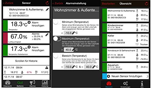 TFA Dostmann Weather Hub 54Maison Surveillance Température Humidité émetteur de porte fenêtre Détecteur d'eau Capteurs TFA 31.4002.02.54 23