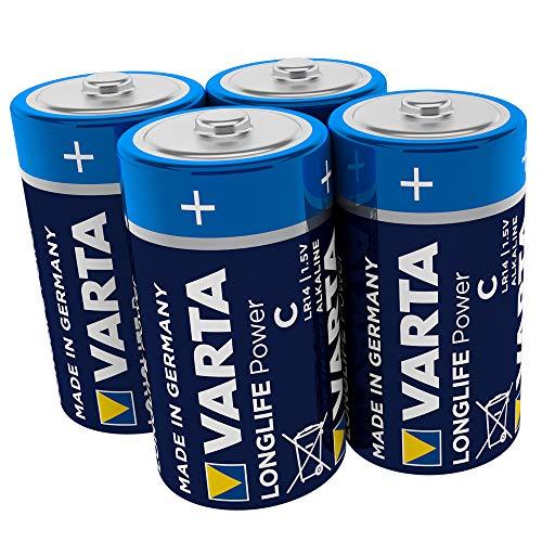 Varta 4914121414 Longlife Power (High Energy) Batteria Alcalina, Mezza Torcia C LR14 , Confezione da...
