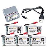 Syma x5hc x5hw x15w batería, Keenstone 5pcs 3.7V 600mAh 20C litio bateria + 1 PCS cargador para Syma X5HC X5HW X15W Quadcopters protección de sobrecarga