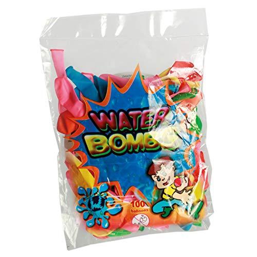 Preis am Stiel 1x 100er Pack Wasserbomben | Luftballons | Kindergeburtstag | Garten Party | Mitgebsel | Wasserspielzeug | Outdoor | Spielspaß für Kinder | Sommerspiel | Geschenk für Kinder