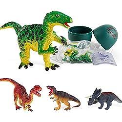 Zarupeng ☆☆☆☆ Nuevo Juguete de Huevo de Dinosaurio Modelo de simulación Creativa Deformed Easter Toys Gift