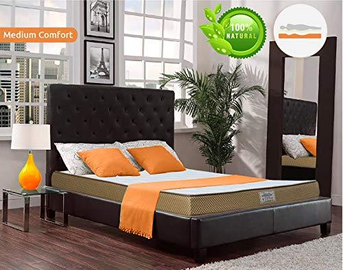 Dreamzee 100% Natural Latex Plus Memory Foam Certified Hybrid Mattress - Dual Comfort (72X36X5 Inch)