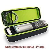 Tizum EchoPlus-B Travel Portable Hard Case Pouch for Amazon Echo Plus (Black)