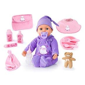 Bayer Design- Muñeca bebé Que llora, Piccolina Real Tears, 46 cm, con Accesorios, Color Lila (94697AA)