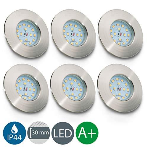Faretti LED da incasso, luci LED integrate 5W, diametro foro 60mm, faretti per bagno ultrasottili da...