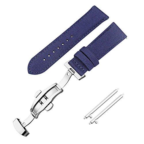 comodo reale orologio a sgancio rapido banda 20 millimetri fodera in pelle cinturino dell'orologio blu cinghia della vigilanza reale