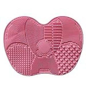 Almohadilla de silicona para limpiar brochas de maquillaje, limpiador de brochas (23x 17cm)