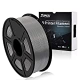 Filamento PLA Plus de la impresora SUNLU 3D, filamento PLA de 1.75 mm, filamento de impresión 3D de bajo olor, precisión dimensional +/- 0.02 mm, filamento 3D del carrete 4D,gris PLA+