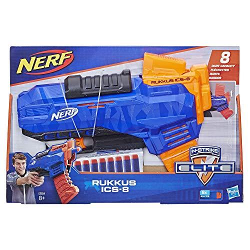 Nerf Elite - Rukkus ICS-8 (blaster con dardi e caricatore a scorrimento verticale)