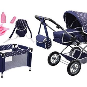 Bayer Design 15051AB Cochecito, Carro Combi Grande, Convertible, Plegable, con Cama, Bolsa, Porta para muñecos…