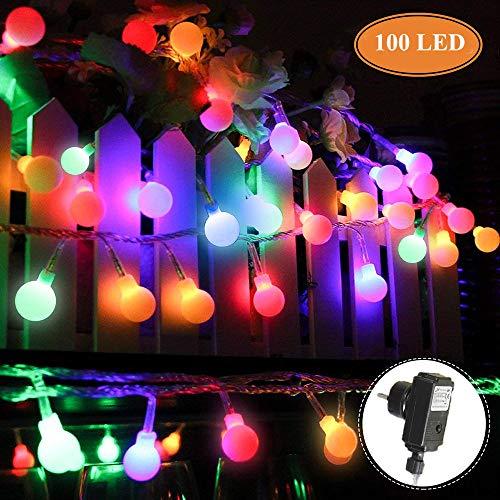 Innoo Tech Stringa Led con 100 Bulbi Colorati RYGB IP44 Catene Luminose Luci Natalizie Per Natale, Anno Nuovo, Matrimonio, Bar, Caffšš, Piscina, Casa, Interno ed Esterno Trasformatore DC 31V