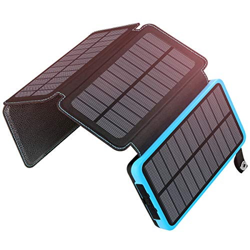 ADDTOP Caricabatterie Solare 25000mAh PowerBank Portatile con 2 Porte USB Batteria Esterna...