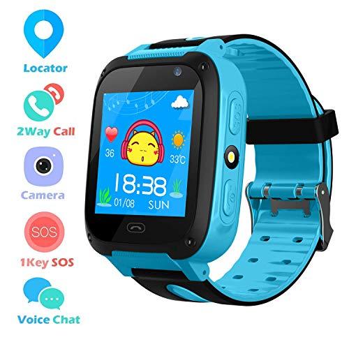 LOVOVR Telefono Cellulare per Bambini Orologio Intelligente 3-12 Anni Ragazzo Ragazza GPS/LBS...