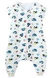 FEOYA Grenouillère Bébé Gigoteuse avec Jambes Fille Garçon Combinaison Eté Coton Pyjama Sac de Couchage - 6-18 Mois