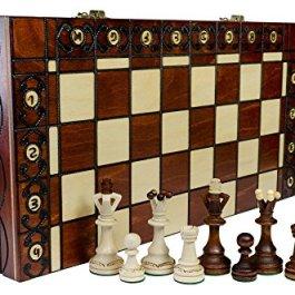 SENATORE – grande 40cm/16 pollici Handcrafted scacchiera in legno classico