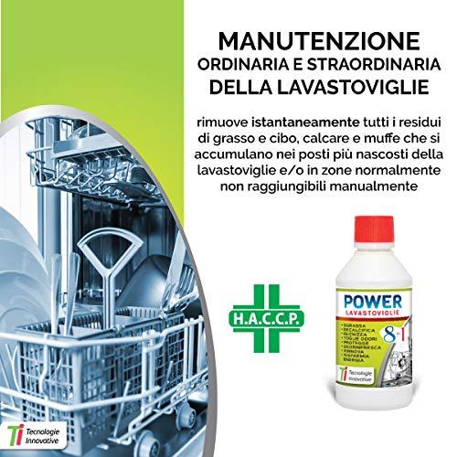 Tecnologie Innovative Power LAVASTOVIGLIE 8 in 1 Sgrassa Decalcifica Elimina Gli odori 300 ml