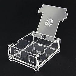LaDicha Voltear Carcasa De Acrílico Transparente Para Arduino Uno R3