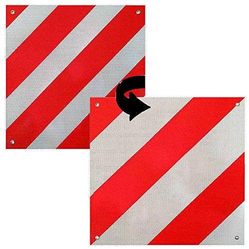 Melko,segnale d'avvertimento 2 in 1, Spagna e Italia, in alluminio, 500x 500mm, bianco/rosso