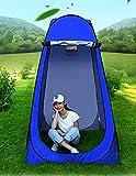 Vinteky Tragbar Umkleidezelt Duschzelt Toilettenzelt Camping Duschzelt Outdoor Tragbar Umkleidekabine Lagerzelt (blau)