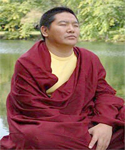 Parijat artisanale en laine Châle de méditation Tibet moines Bordeaux Rouge 100% à partir du Tibet par Châle de Prière, couverture de Bouddh... 23