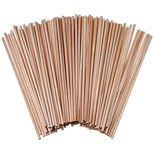 120 Stück naturbelassene Universal Holzrundstäbe Bambus Bastelbedarf Rundholz Bastelholz (150 mm)