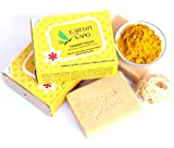 Earthy Sapo Tender Touch Moisturizing Unscented Bathing Soap - turmeric & shea butter