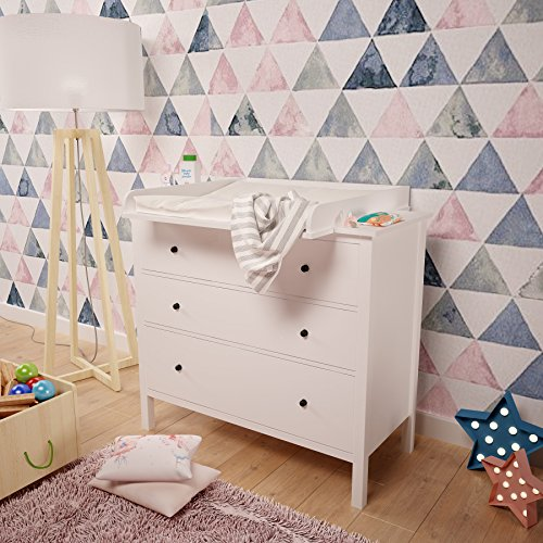 Polini Changing Board For Hemnes Chest Of Drawer White