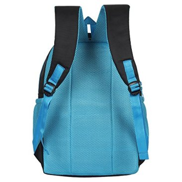 Sassie Polyester 41 L Black Blue School and Laptop Bag with 3 Large Compartments 5