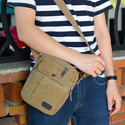 Super Modern™ Men Small Vintage Canvas Messenger Bag Cross body bag Pack  Organizer Satchel Bag Durable ... 2bcc2646bb75c