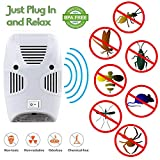 Zurato Ultrasonic Pest Repellent for Kitchen, Living Room, Office, Electronic Bug Repellent Reject Ant, Mosquito, Rate, Rodent, Insect, Bed Bug, Rodent, Lizard, Spiders, Fly, Pet Safe, Eco-Friendly