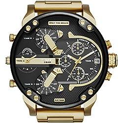 Hombre-Reloj diesel MR Daddy 2.0 cronógrafo de Cuarzo con Revestimiento de Acero DZ7333