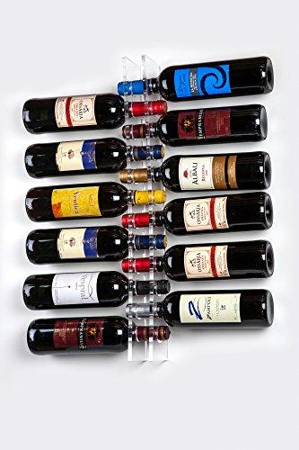 Cantinetta Portabottiglie di vino da parete per 12 Bottiglie in Plexiglass trasparente -...