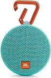 JBL Clip 2 Wasserdichter Tragbarer Wiederaufladbarer Lautsprecher mit IPX7 Wasserschutz, Aux-Konnektivität und Integrierter Freisprechfunktion - Türkis