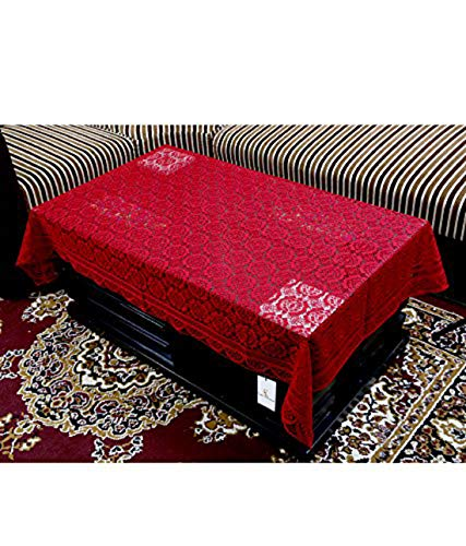 Kuber Industries Cotton Centre Table Cover Set - Maroon