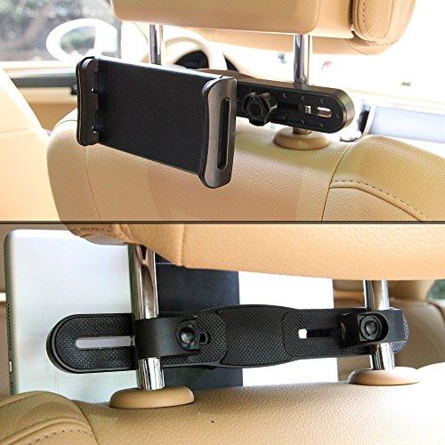 Support tablette voiture poophuns porte tablette t l phone voiture pour appui t te universel - Porte telephone voiture universel ...