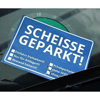 Scheisse-Geparkt-Notizblock-mit-StVO-fr-die-Windschutzscheibe-Notizzettel-Notizbuch-50-Blatt-Schreibblock