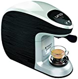 Hotpoint CM MS QBW0 Macchina per Caffe Espresso, 1300 W, 1 Cups, Nero/Bianco