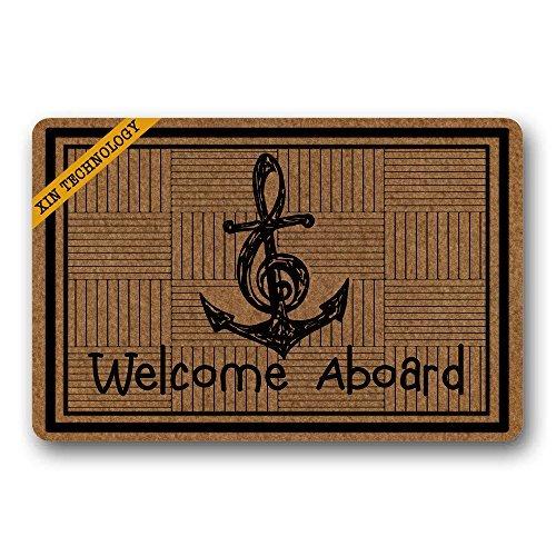Artsblaba Zerbini in Gomma Antiscivolo zerbino Tappeto asciugapassi zerbino Welcome Aboard Durable...