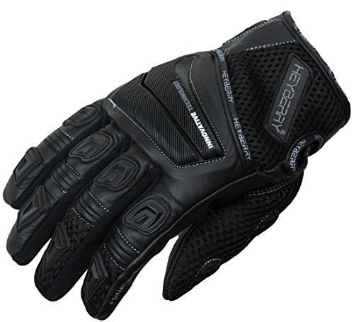 HEYBERRY Motorrad Handschuhe Motorradhandschuhe Sommer schwarz 1