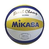 Mikasa Vls-300 Pallone Da Pallavolo, Unisex – Adulto, Bianco/Giallo/Blu, 5