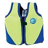 Splash About BJL6 Gilet de flottaison Enfant Vert Fluo et Bleu FR : L (Taille Fabricant : 6-10 ans)