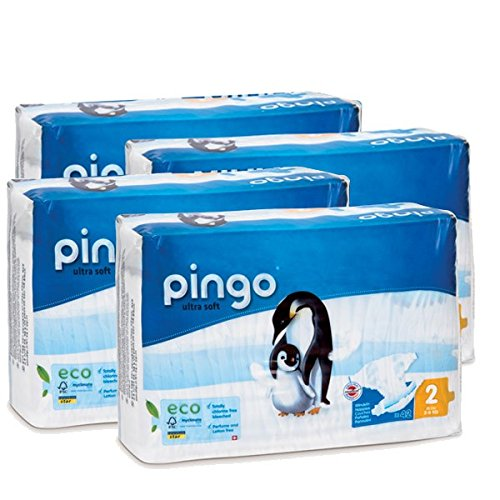 Pingo - Pannolini Pingo T2 ecologici e biodegradabili 3/6 kg (confezione da 168 pannolini)