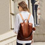 Paradox Girl's Water Resistant Vegan Leather Anti-Theft School Shoulder Backpack Bag (Black) 18