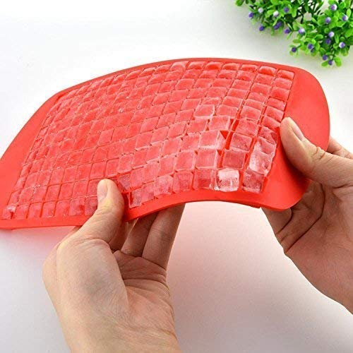 WHOLE MART® Mini Square Shape Ice Cube Tray 160 Grid Creative Silicone Ice Cube Whisky Chocolate Mold