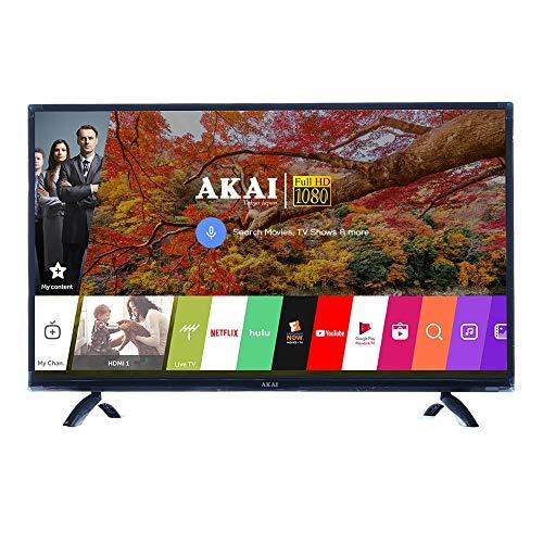 Akai 102 cm (40 Inches) Full HD Smart LED TV AKLT40S-D078M (Black) (2019 Model)