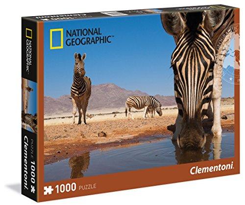Clementoni 39356 - Puzzle National Geographic, Zebra, 1000 Pezzi, Multicolore