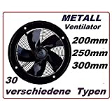 250mm Industriali Ventilatore Assiale 1800 m³/h , Estrattore Aspiratore elicoidale elicoidali finestra parete