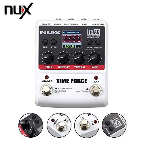 Homely Nux Time Force Multi Digital Delay Effects Electric Guitar Effects Pedal Guitarra Tuner Accessories Instrument